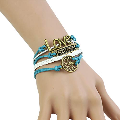 - CHOP MALL Best Friend Love Life Tree Blue White Bracelet for Women Girl Jewelry Mother's Day/Anniversary/Birthday Girl Gift