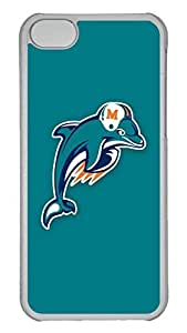 GOOD 5C Case, iPhone 5C Case, Personalized Hard PC Clear Shoockproof Protective Case Cover for New Apple iPhone 5C - Nfl Miami Dolphins