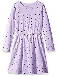 Girls' Long-Sleeve Elastic Waist T-Shirt Dress