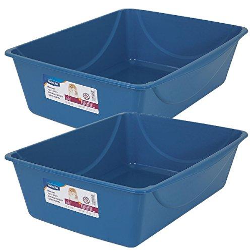 - Petmate Litter Pan, Blue Mesa/ Mouse Grey, Jumbo, 2 Pack