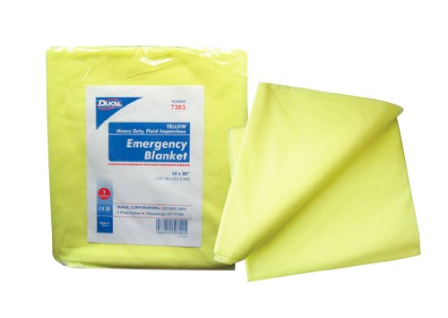 Disposable Blanket Soft Warm Yellow 54'' X 80'' 50 Blankets by Dukal Corporation - MS80800