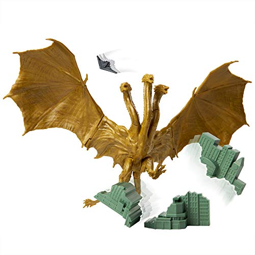 Godzilla King of The Monsters: 6″ King Ghidorah Articulated Action Figure with Argo Jet & Destructible City