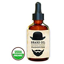 Premium - Beard Oil and Conditioner - 100% Organic , Pure and Natural Unscented - for Groomed Beard, Mustache, Face and Skin - Softens Your Beard, Stops Itching, Fragrance Free, best Beard Kit 1 oz.