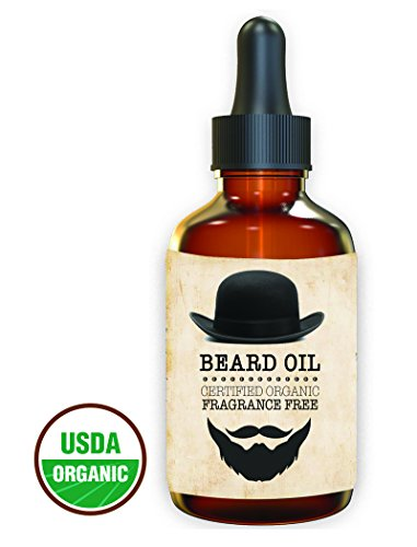 Premium – Beard Oil and Conditioner – 100% Organic, Pure and Natural Unscented – for Groomed Beard, Mustache, Face and Skin – Softens Your Beard, Stops Itching, Fragrance Free, best Beard Kit 1 oz.