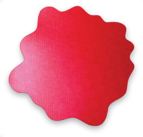 Floortex Sploshmat, Multi-Purpose Mat for Young Families, Highchair and Play Mat, Gripper Back for Carpet Flooring, Red, Size: 40