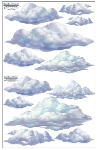Create-A-Mural Sky Cloud Wall Decals ~ Beautiful Cloud Wall Stickers Room Decor (Cloud Wall Stickers)