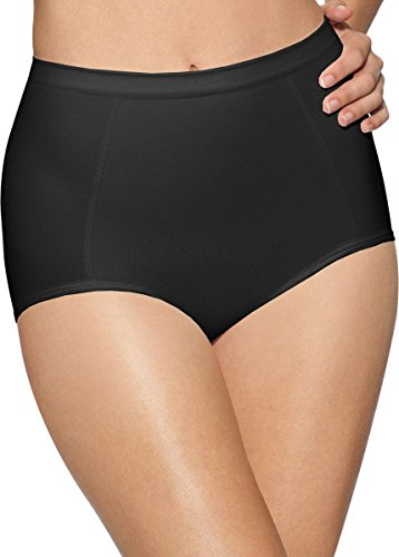 Bali womens Seamless Brief With Tummy Panel Ultra Control 2-Pack(X245)-2 Black-L