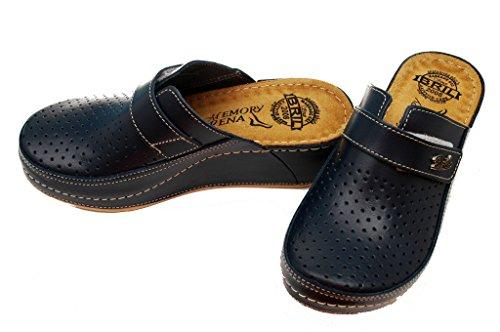 Cuir Chaussons BRIL Rosso Punto D130 Femme Dr en Dames Mules Chaussures Noir Sabots OqzF1wY4xn