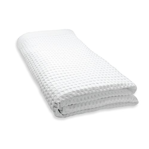 Gilden Tree 100% Natural Cotton Lattice Waffle Weave Bath Sheet (White) by Gilden Tree