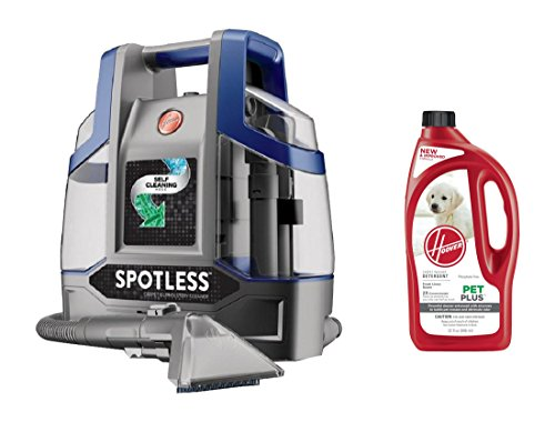 Hoover Spotless Deluxe Portable Carpet & Upholstery Spot Cleaner FH11400PC+Hoover 2X PetPlus Pet Stain & Odor Remover 32 oz, AH30325NF by HOOVER