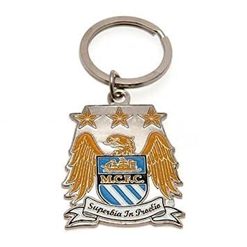 Amazon.com: Oficial Manchester City FC llavero con escudo ...