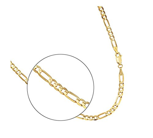 Figaro-Chain-7mm-24K-Gold-Necklace-Hip-Hop-Tarnish-Resistant-for-Men-Women-NO-FADE-Looks-and-Feels-Solid