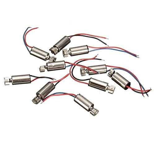 Semoic 10 PZ Mini Telefono Cellulare Coreless Vibration Motor Vibrator 4x8mm DC 1.5-3V RC Giocattoli