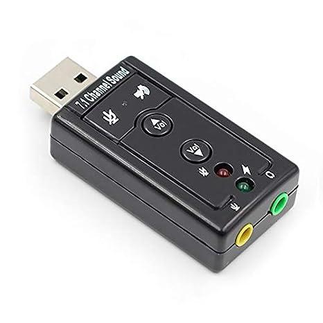 Libertroy 7.1 Tarjeta de Sonido USB Externa USB a Conector ...