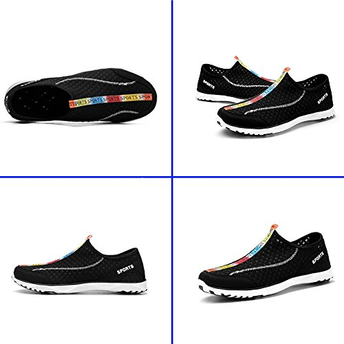 Breathable Black Slip Water Drying Quick On HiMeiping Mesh Men's Lightweight Shoes UwExqvf