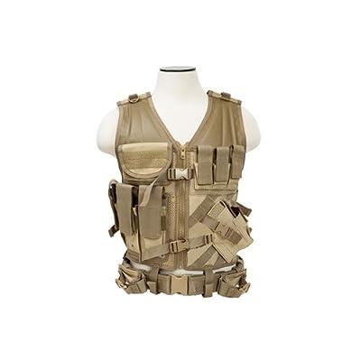 VISM by NcStarTactical Vest/Tan, adjustable small/medium (CTV2916T)