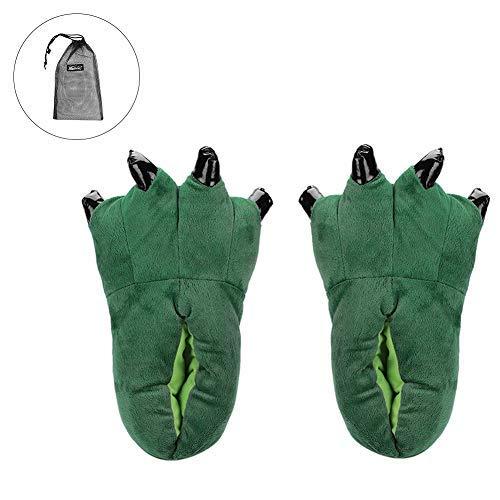 Scarpa Verde Uomo Cotone souple Caldo Chausson Animale Donna Pantoufle Inverno Fodera Suola Ultra D' Di Unisex Antiscivolo Similpelle Casa Autunno Figura Epais Slipper In Peluche xTCBqW6Sw