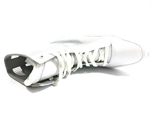 RUE 51 zapatos elegantes hombre gamuza blanco