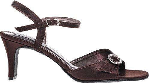 Traje de neopreno para mujer alianza de tobillo con cinta ajustable con brillantes de cierre magnético. marrón