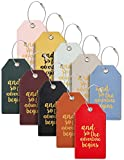 Casmonal Luggage Tags with Full Back Privacy Cover w/Steel Loops (mixed 10 pcs set up)