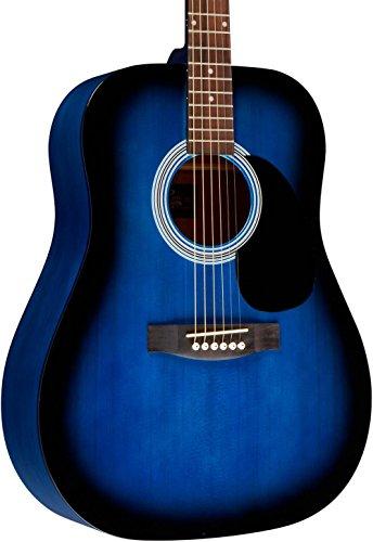 Rogue RA-100D Dreadnought Acoustic Guitar Blue (Blue Burst Acoustic Guitar)