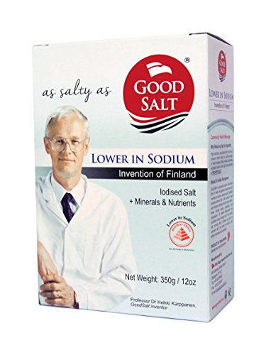 GoodSalt: The Better Salt, Tasty Low Sodium Iodized Mineral Salt, Less Sodium Healthy Salt Substitute, 12 Ounce