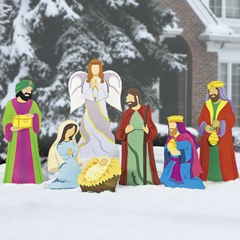 Deluxe Nativity Scene Christmas Metal Yard Decor