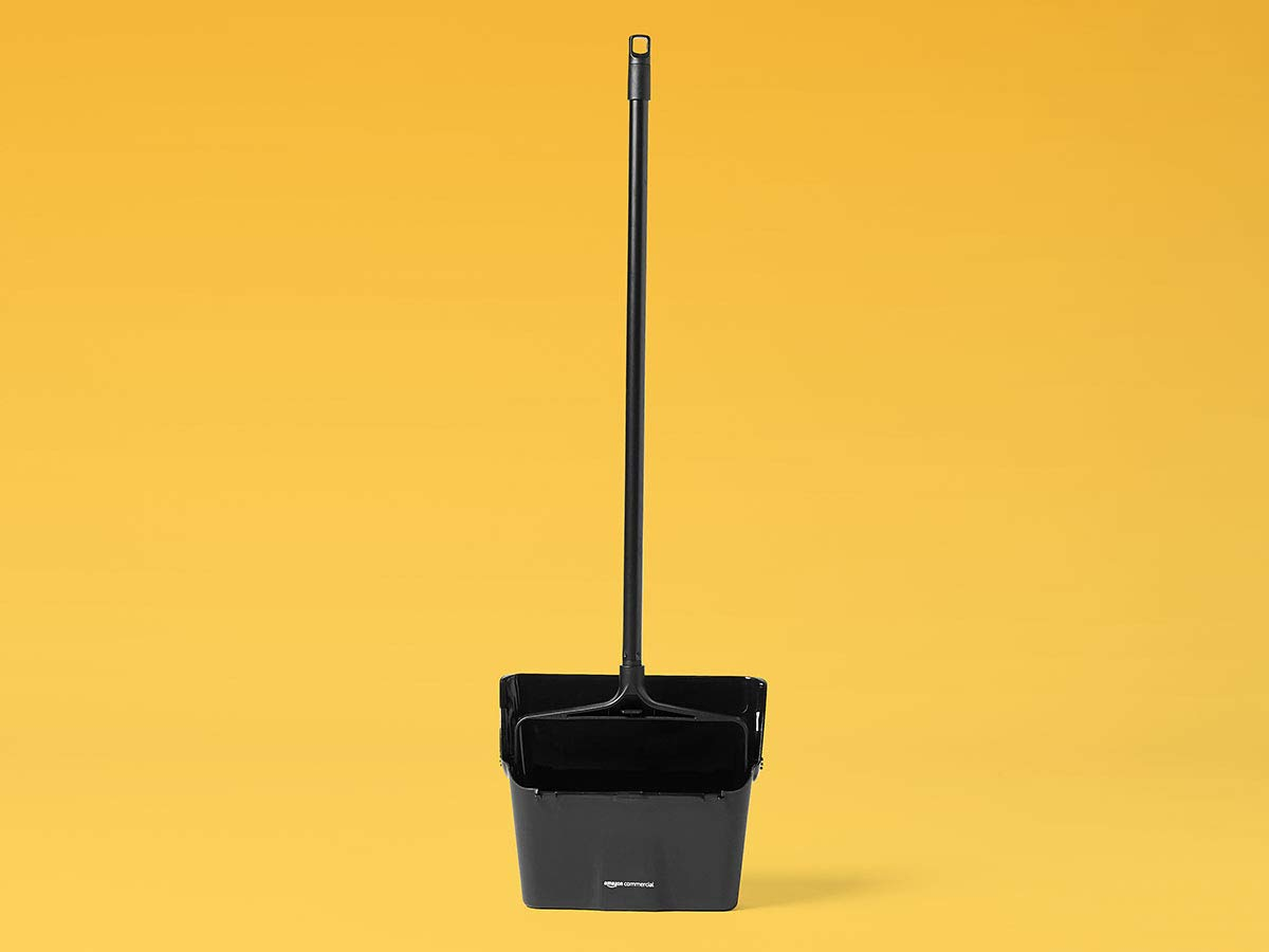 AmazonCommercial Lobby Dustpan, Black, 4-Pack by AmazonCommercial