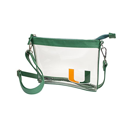 (Capri Designs Clear Small Crossbody NFL Stadium Approved - University of Miami)