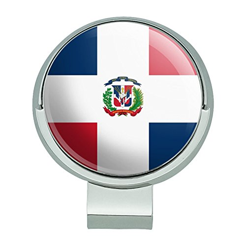 (GRAPHICS & MORE The Dominican Republic Country Flag Golf Hat Clip with Magnetic Ball Marker)