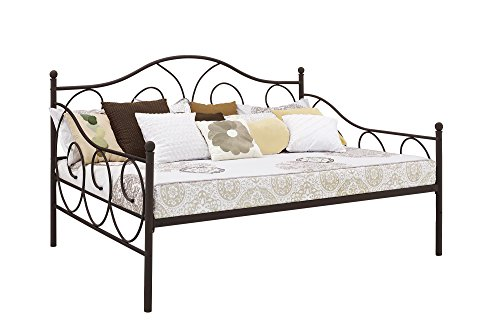 - DHP Victoria Daybed Metal Frame, Multifunctional, Includes Metal Slats, Full Size, Bronze Bronze Full