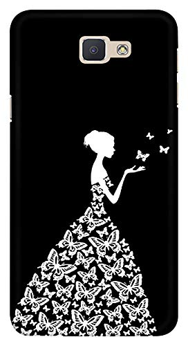 Blutec Butterfly Girl Design Printed Hard Back Cover For Samsung Galaxy J7 Prime Bl8006 14021