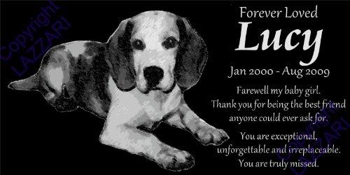 (Lazzari Collections Personalized Beagle Pet Memorial 12