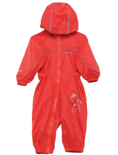 Regatta wasserdichter und leichtgewichtiger Kinder Regenanzug, Pepper (Rot), Gr.104/110