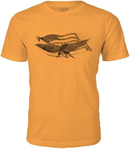 - Austin Ink Apparel Unisex Fine Jersey Civil War Eagle Print Soft T-Shirt Top (Orange, 2XL)