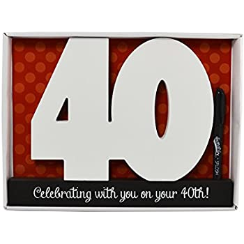 Ing Happy 40th Birthday Wooden Signature Number