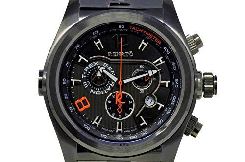 New Mens Renato T-Rex Gen III Swiss Chronograph Black Steel Bracelet Watch