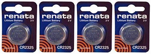 - Renata CR2325 Lithium Coin Battery X 4 Batteries