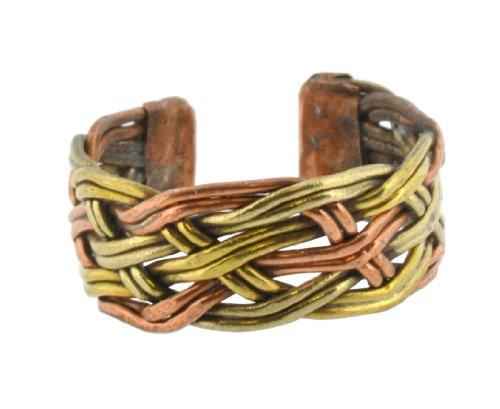 Tibetan Brass Copper Three Metal Healing Ring Tibetan Three Metal