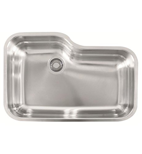 Franke USA ORX110 Franke Gauge Undermount Single Bowl Stainless Steel Kitchen Sink, 30.5-inch x 20-inch x 9-inch deep,
