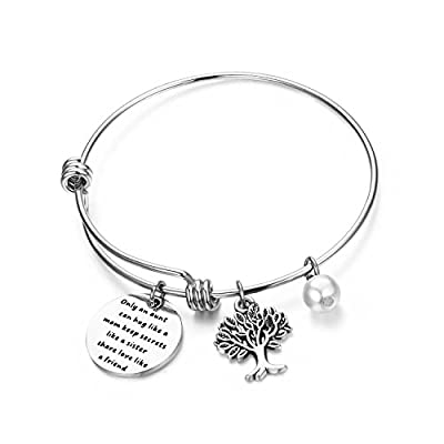 bobauna Aunt Bracelet With Family Tree Charm Only An Aunt Can Hug Like A Mom Keep Secrets Like A Sister Share Love Like A Friend Aunt Gifts From Niece hot sale