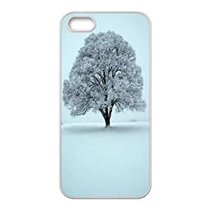 For Iphone 5C Phone Case Cover Winter Tree Hard Shell Back White For Iphone 5C Phone Case Cover 325754