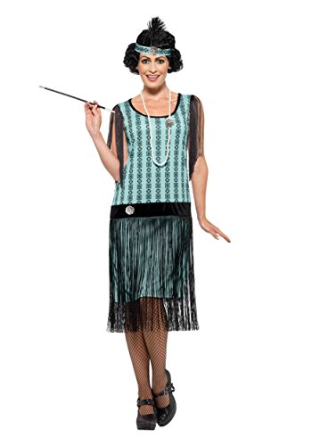 Womens 1920s Coco Flapper Costume (Smiffys 1920s Mint Coco Flapper Costume Large)