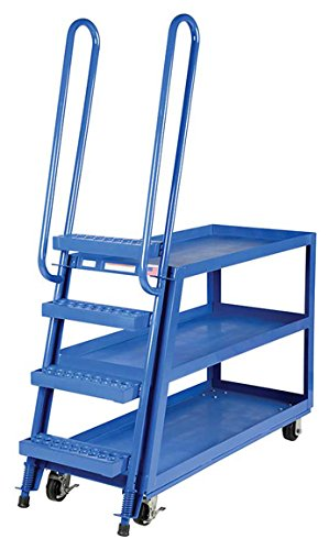 Aluminum Hi-Duty Portable Stockpicker Truck - BSPA-HD Series; Bottom Shelf Size (W x L): 22'' x 52''; Shelf Clearance: 13''; Top Shelf Height: 35''; Top Shelf Capacity (LBS): 330 by Beacon World Class Products