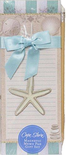(Cape Shore Beach House Magnetic Memo Pad Gift Set)
