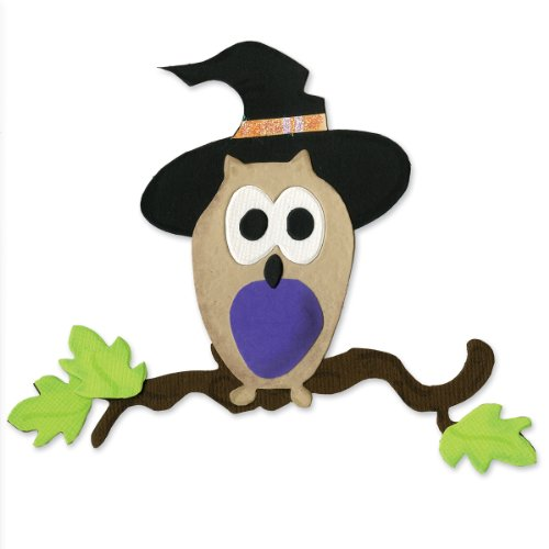 (Sizzix 655567 Bigz Die Owl with Witch Hat by Brenda Pinnick, Multicolor)