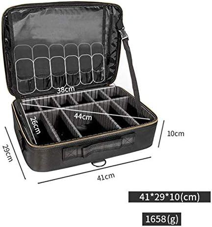 YQFN maletin Maquillaje Profesional Viaje Maleta Neceser Maquillaje maletaTabique de Almacenamiento Multifuncional PU portátil de Gran Capacidad Nuevo-Doble Capa Grande: Amazon.es: Equipaje