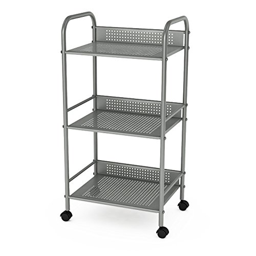 dar Living 3-Tier Cart, Moon Mist by dar Living