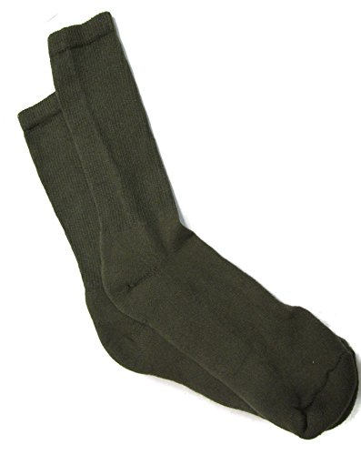 Men's Anti-Microbial Military Boot Socks OLIVE DRAB - 3 PAIR