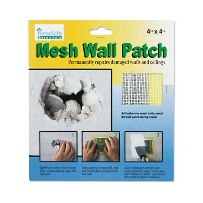 2 Pk 4in x 4 in Self Adhesive Metal Backed Mesh Dry Wall and Ceiling Patch